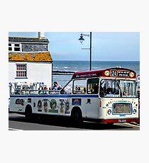 Open Top Bus...................Lyme, Dorset UK Photographic Print