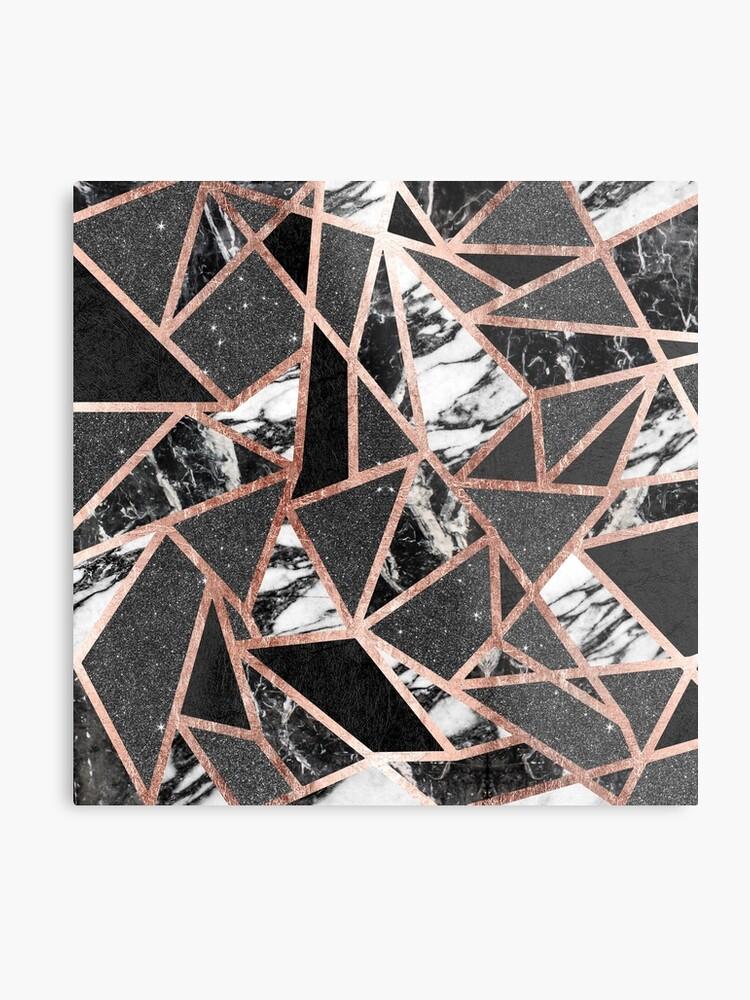 fd0f05fcb9cf5c Modern Rose Gold Glitter Marble Geometric Triangle
