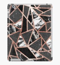 Modern Rose Gold Glitter Marble Geometric Triangle iPad Case/Skin