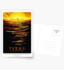 NASA Space Tourism Posters: Titan Postkarten