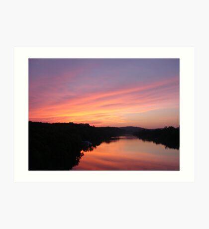 Sunset on Town Lake Art Print