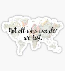 Wander Vintage World Map Sticker