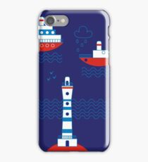 Sea, ships, lighthouses iPhone Case/Skin