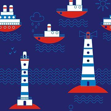 Sea, ships, lighthouses by Nata-V