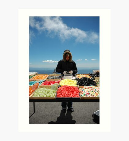 selling sweets in the cold Art Print