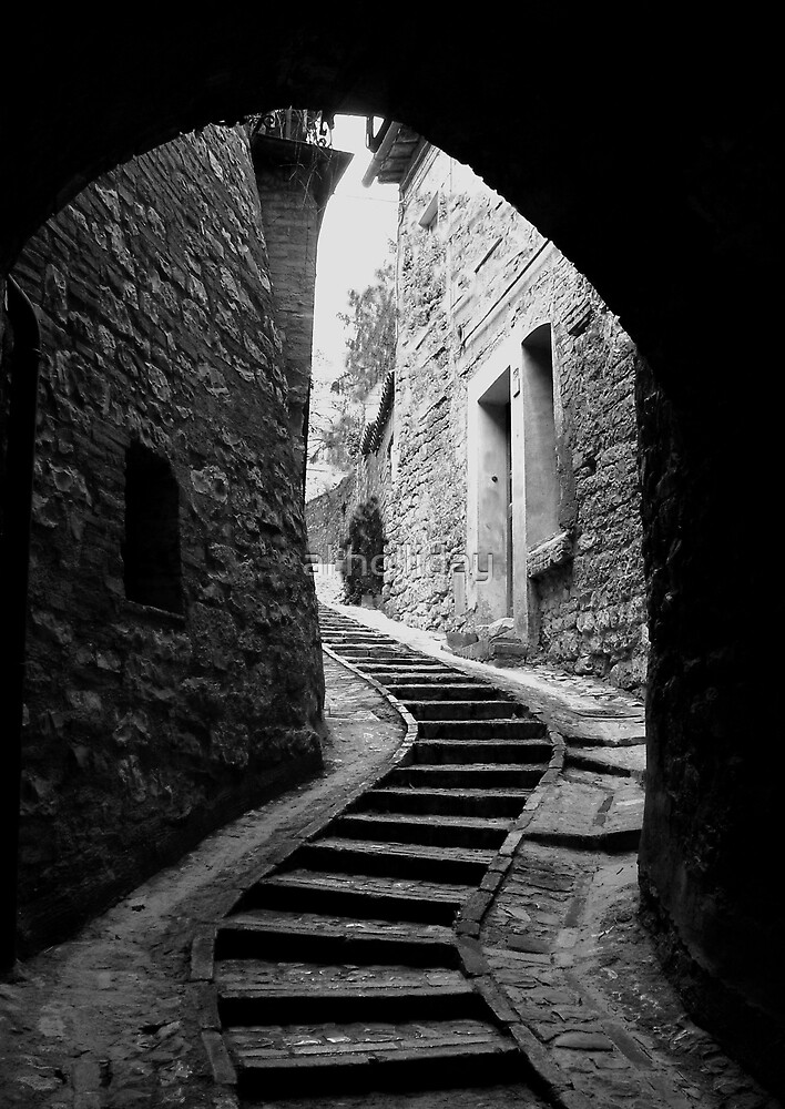 Steps, Spello, Italy by al holliday
