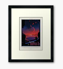 NASA Space Tourism Posters: Trappist 1 Framed Print