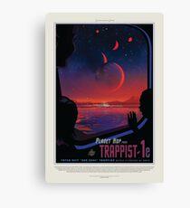 Lienzo Pósteres de turismo espacial de la NASA: trapense 1
