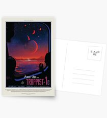 NASA Space Tourism Posters: Trappist 1 Postkarten