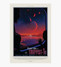 NASA Space Tourism Posters: Trappist 1 Photographic Print