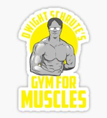 dwight schrutes's gym for muscles Sticker