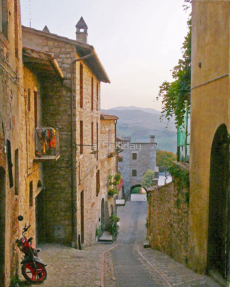 Street in Todi, Italy by al holliday