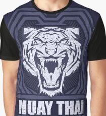 Muay Thai Power Shield - Tiger Scratch - Thailand Martial Art Graphic T-Shirt