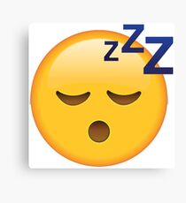 Sleep Emoji Canvas Print
