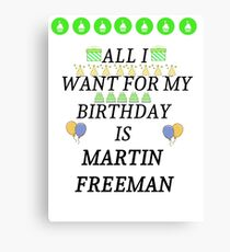 Birthday Freeman Canvas Print