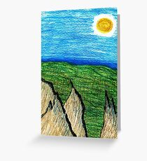 Cragged Landscape Greeting Card