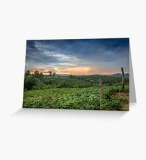 Sunset in Northern Thailand Greeting Card
