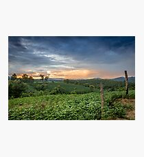 Sunset in Northern Thailand Photographic Print