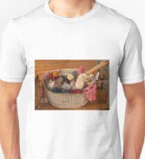 1255 Grandmas Knitting Basket Unisex T-Shirt