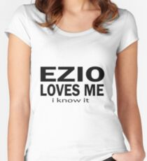 Ezio loves me Women's Fitted Scoop T-Shirt