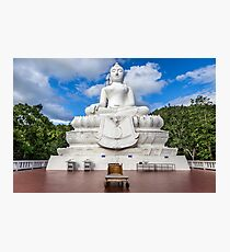 The White Buddha of Thailand Photographic Print