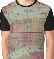 Historical map New York Graphic T-Shirt