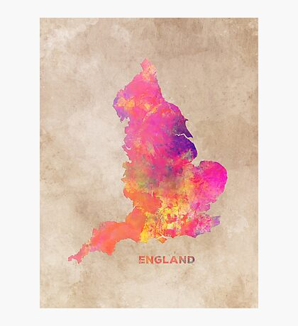 England map #england #map #englandmap Photographic Print