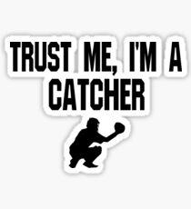 Pegatina Confíe en mí que soy un colector - camiseta divertida del béisbol del colector