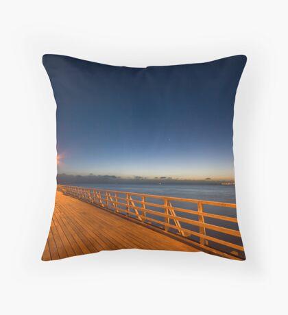 Pre-Dawn Pier Throw Pillow
