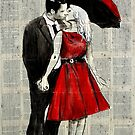 she wore red by Loui  Jover