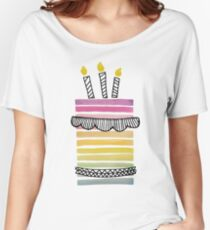 rainbow cake Women's Relaxed Fit T-Shirt