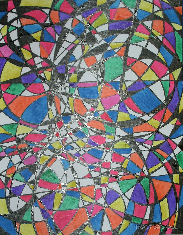 coloured circles by TRACY BAGNALL