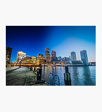 Boston Day to Night Photographic Print