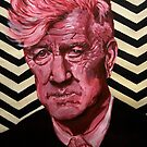 David Lynch Acrylic Portrait Painting by Sarah Horsman