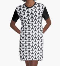 Pixel Fidget spinner Collage Graphic T-Shirt Dress
