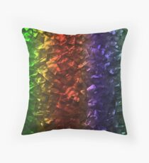 Multi Color Magical Unicorn Rainbow Shimmering Mother of Pearl Throw Pillow