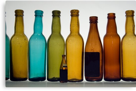 Old bottles by onfilm