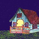 Stars over the Cottage by Meg Marchiando