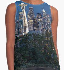 Space Needle in Seattle Skyline Contrast Tank