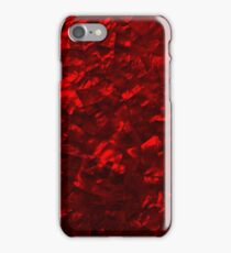 Hawaiian Red Hot Lava Mother of Pearl Nacre  iPhone Case/Skin
