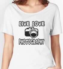 Photography T Shirt  Women's Relaxed Fit T-Shirt