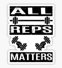 All Reps Matters Fitness Sticker