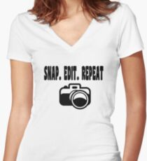 Photography T Shirt  Women's Fitted V-Neck T-Shirt