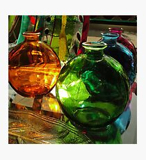 Glass Bottles Photographic Print