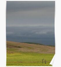 Stormy Wheatfields Poster