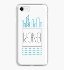 Hong Kong - City Skyline colour iPhone Case/Skin