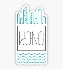 Hong Kong - City Skyline colour Sticker