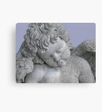sleeping angel statue 2 Canvas Print