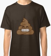Poop Emoji Grinning Face with Smiling Eyes Classic T-Shirt