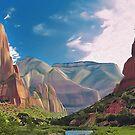 Cliffs of Zion by Walter Colvin